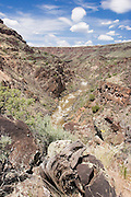 Vertical of Rio Grande River from Vista Verde trail, Taos County, New Mexico