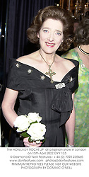 The HON.LADY ROCHE JP  at a fashion show in London on 15th April 2002.OYY 133