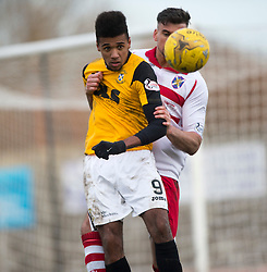East Fife's Nathan Austin. <br /> East Fife 1 v 0 Stirling Albion, Scottish Football League Division Two game played atBayview Stadium, 20/2/2106.