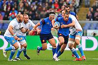 Gael FICKOU / Joshua FURNO - 15.03.2015 - Rugby - Italie / France - Tournoi des VI Nations -Rome<br /> Photo : David Winter / Icon Sport
