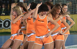 Dancers at qualification match for  Euro 2010 in Austria between national teams of Slovenia and Germany, Group 5, on November 2, 2008 in Arena Zlatorog, Celje, Slovenia. (Photo by Vid Ponikvar / Sportal Images)/ Sportida
