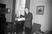 11 April 1967<br /> <br /> Minister for Finance Charles Haughey on Budget Day.
