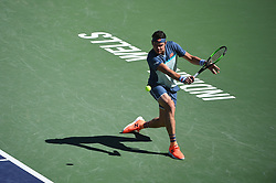 Milos Raonic (CAN) during his quarter final round match at the 2018 Indian Wells Masters 1000 at Indian Wells Tennis Garden, California, USA, on March, 14, 2019. Photo by Corinne Dubreuil/ABACAPRESS.COM