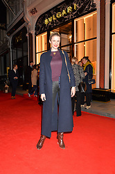 FIONA SCARRY at the launch of the new Bulgari flagship store at 168 New Bond Street, London on 14th April 2016.