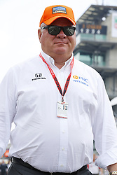 May 19, 2018 - Indianapolis, Indiana, United States of America - Chip Ganassi, owner of Chip Ganassi Racing walks pit lane before the start of ''Bump Day'' for the Indianapolis 500 at the Indianapolis Motor Speedway in Indianapolis, Indiana. (Credit Image: © Chris Owens Asp Inc/ASP via ZUMA Wire)