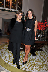 ELLA KRASNER and PABLO GANGULI at a dinner hosted by Pablo Ganguli and Ella Krasner to celebrate the 10th Anniversary of Liberatum and in honour of Sir Peter Blake held at The Corinthia Hotel, Nortumberland Avenue, London on 23rd November 2011.