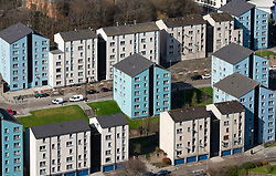 View of apartment buildings in Dumbiedykes housing estate in Edinburgh,Scotland, UK