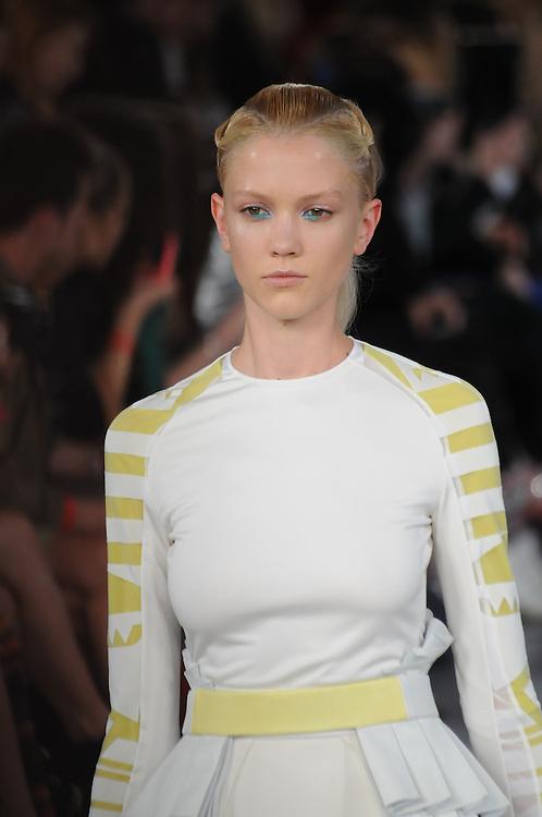 Models walk the runway for David Koma Spring 2012 fashion show during London Fashion Week, London, UK. 20/09/2011 Anne-Marie Michel/CatchlightMedia