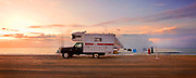 Camper truck on beach at South Core banks, North Carolina