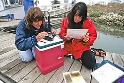 Jenny & Daniela Checking Water Sample
