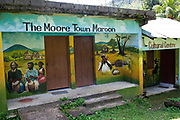 Cultural centre, Moore Town, Portland, Jamaica. Moore town is home to the windward Maroons, the earliest independent settlers, who were slaves that escaped from the British and lived in the hills. (photo by Phil Clarke Hill/In Pictures via Getty Images)