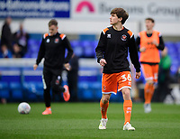 Blackpool's Tony Weston during the pre-match warm-up<br /> <br /> Photographer Chris Vaughan/CameraSport<br /> <br /> The EFL Sky Bet League One - Ipswich Town v Blackpool - Saturday 23rd November 2019 - Portman Road - Ipswich<br /> <br /> World Copyright © 2019 CameraSport. All rights reserved. 43 Linden Ave. Countesthorpe. Leicester. England. LE8 5PG - Tel: +44 (0) 116 277 4147 - admin@camerasport.com - www.camerasport.com