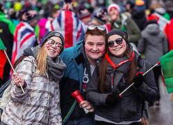"""29.01.2019, Planai, Schladming, AUT, FIS Weltcup Ski Alpin, Slalom, Herren, im Bild Österreichische Skifans vor dem Nightrace // Austrian fans before the night race before the men's Slalom """"the Nightrace"""" of FIS ski alpine world cup at the Planai in Schladming, Austria on 2019/01/29. EXPA Pictures © 2019, PhotoCredit: EXPA/ Stefanie Oberhauser"""