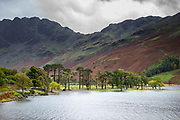 Valley scene - Buttermere Lake and High Stile mountain in the Lake District, Cumbria, England, UK