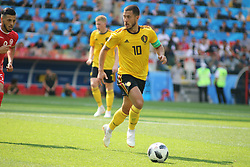 June 23, 2018 - Moscow, Russia - June 23, 2018, Russia, Moscow, FIFA World Cup 2018, First Round, Group, Second Round, Belgium - Tunisia at the Opening Stadium, Spartak Arena. Player of the national team Eden Azar. (Credit Image: © Russian Look via ZUMA Wire)