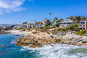 Oceanfront Homes Overlook Moss Point in Laguna Beach