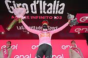 Foto Gian Mattia D'Alberto/LaPresse<br /> 22 ottobre 2020 Italia<br /> Sport Ciclismo<br /> Giro d'Italia 2020 - edizione 103 - Tappa 18 Pinzolo a Laghi di Cancano<br /> Nella foto: KELDERMAN Wilco TEAM SUNWEB maglia rosa<br /> Photo Gian Mattia D'Alberto/LaPresse<br /> October 22, 2020  Italy  <br /> Sport Cycling<br /> Giro d'Italia 2020 - 103th edition - Stage 18 Pinzolo  Laghi di Cancano<br /> In the pic: KELDERMAN Wilco TEAM SUNWEB pink jersey