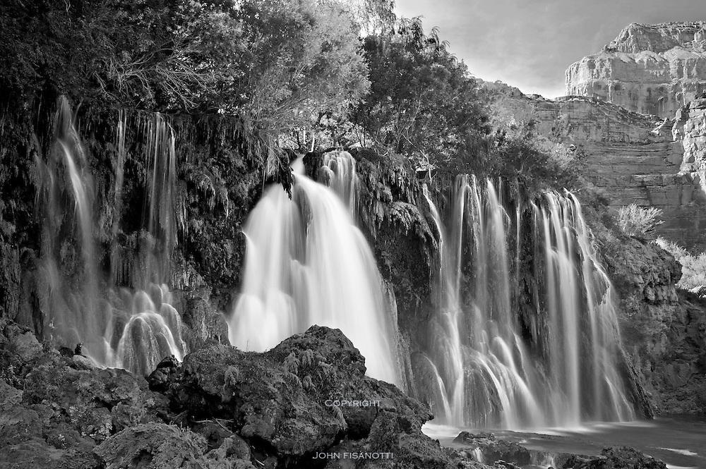 Upper Navajo Falls, on Havasu Creek, Havasupai Indian Reservation