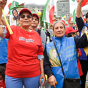 Anti-Iran movement with the British speakers rally demand for a regime change, Trafalgar square, on 27 July 2019, London, UK