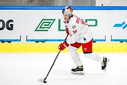 Aljaz Prodan of Red Bull Salzburg during ice hockey match between HK SZ Olimpija Ljubljana and EC Red Bull Salzburg in bet-at-home ICE Hockey League, on October 10, 2021 in Hala Tivoli, Ljubljana, Slovenia. Photo by Morgen Kristan / Sportida