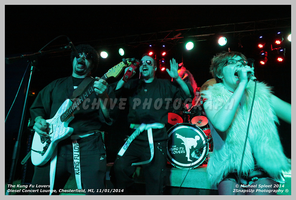 The Kung Fu Lovers,  at Diesel Concert Lounge, Clinton Township, MI, 11/01/2014.  (Image Credit: Michael Spleet / 2SnapsUp Photography)