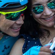 Astana Pro team, his son, Madrid, Miguel Angel Lopez, Plaza de Cibeles, Vuelta a Espana 2019