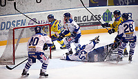 Ishockey , Get-Ligaen , semifinale 1 av 7<br /> 20.03.15<br /> Hamar OL- Amfi<br /> Storhamar   v  Sparta 9-3<br /> Foto : Dagfinn Limoseth , Digitalsport<br /> Linus Johansson , Storhamar (40) scorer