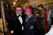 ALBER ELBAZ; ZANDRA RHODES. The Launch of the Lanvin store on Mount St. Presentation and cocktails.  London. 26 March 2009