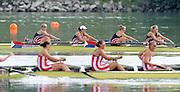Ottensheim, AUSTRIA.  A  Final, Women's Fours, at the 2008 FISA Senior and Junior Rowing Championships,  Linz/Ottensheim. Sunday,  27/07/2008.  [Mandatory Credit: Peter SPURRIER, Intersport Images] Rowing Course: Linz/ Ottensheim, Austria