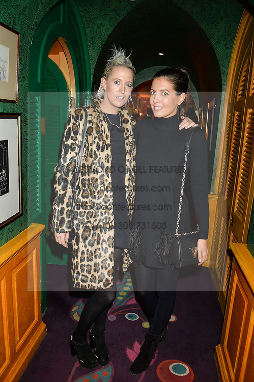 Left to right, the HON.SOPHIA HESKETH and AMANDA SHEPPARD at an exclusive performance by Mark Ronson at Annabel's, Berkeley Square, London on 2nd March 2016.