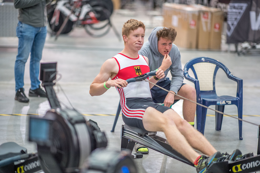 Leo Ashcroft MALE LIGHTWEIGHT U16 2K Race #5 09:30am<br /> <br /> <br /> www.rowingcelebration.com Competing on Concept 2 ergometers at the 2018 NZ Indoor Rowing Championships. Avanti Drome, Cambridge,  Saturday 24 November 2018 © Copyright photo Steve McArthur / @RowingCelebration