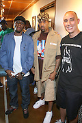 l to r: Mos Def, Red Man and Chang Weisberg at Guerilla Union?s ROCK THE BELLS 2008 INTERNATIONAL FESTIVAL SERIES POWERED BY SANDISK kicks off its Concert Series at First Midwest Bank Ampitheater in Chicago on July 19, 2008