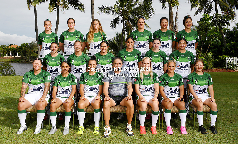 Team photo.<br /> Headshots and team photo session of the Maori Women's rugby league team ahead of the Harvey Norman Women's All Stars match between the Indigenous Women's and Maori Women's teams to be played in Townsville on Saturday 20th February 2021.<br /> Copyright photo: © NRL Photos 2021