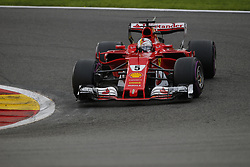 August 27, 2017 - Francorchamps, Belgium - SEBASTIAN VETTEL of Germany and Scuderia Ferrari drives during the 2017 Formula 1 Belgian Grand Prix in Francorchamps, Belgium. (Credit Image: © James Gasperotti via ZUMA Wire)