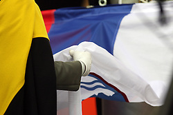 Slovenian flag at the 3rd day of  European Athletics Indoor Championships Torino 2009 (6th - 8th March), at Oval Lingotto Stadium,  Torino, Italy, on March 8, 2009. (Photo by Vid Ponikvar / Sportida)