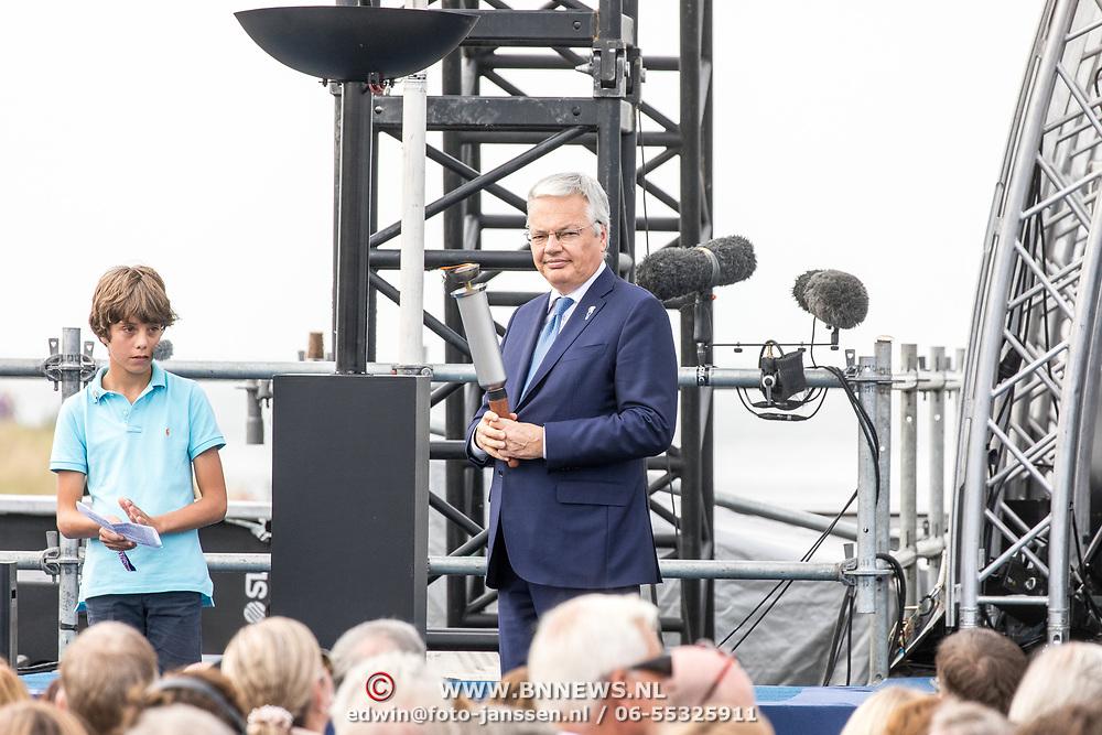 NLD/Terneuzen/20190831 - Start viering 75 jaar vrijheid, Didier Reynders