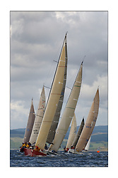 Yachting- Sundays inshore racing  of the Bell Lawrie Scottish series 2003 at Tarbert Loch Fyne. Again light westerly winds and flat water made for tactical racing...'Cracklin Rosie' a Corby 40 from Howth won Class one overall leading a fetch in the inshore race...Pics Marc Turner / PFM