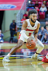 NORMAL, IL - November 03: Keyshawn Evans during a college basketball game between the ISU Redbirds  and the Augustana Vikings on November 03 2018 at Redbird Arena in Normal, IL. (Photo by Alan Look)