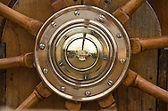Detail of the steering wheel of the U.S. Coast Guard Cutter Eagle is seen at the Tall Ships Festival in Tacoma, WA  Thursday, July 3, 2008. (Photo/John Froschauer)
