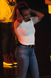 EXCLUSIVE: Janet Jackson resumes her World Tour with some new interesting outfit changes in Vancouver, Canada. Janet added an unusal Denim jacket and sweat pants combination to the outfit changes during The State of The World Tour in Vancouver, Canada. Janet made 4 changes including one tight black dance outfit, a leather outfit with cane to start of with and a casual denim jeans and white top to finish with. Janet was seen thanking all the special fans in Vancouver as well as putting on an energetic show for the crowd at Rogers Arena in Vancouver. 26 Sep 2017 Pictured: Janet Jackson. Photo credit: MEGA TheMegaAgency.com +1 888 505 6342