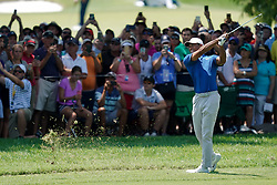 August 11, 2018 - St. Louis, Missouri, United States - Tiger Woods hits a fairway shot during the third round of the 100th PGA Championship at Bellerive Country Club. (Credit Image: © Debby Wong via ZUMA Wire)