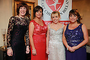 NO FEE PICTURES<br /> 9/11/14 Margaret Rogers (left), Doreen Healy, Dr Orla Franklin and Eileen Curruthers at the Tiny Hearts fundraising ball in aid of Heart Children Ireland at Darver Castle in County Louth. Picture:Arthur Carron