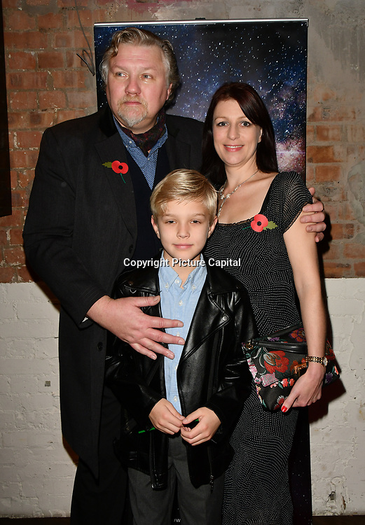 Rock Salt family arrivers at Eleven Film Premiere at Picture House Central, Piccadilly Circus on 10 November 2018, London, Uk.