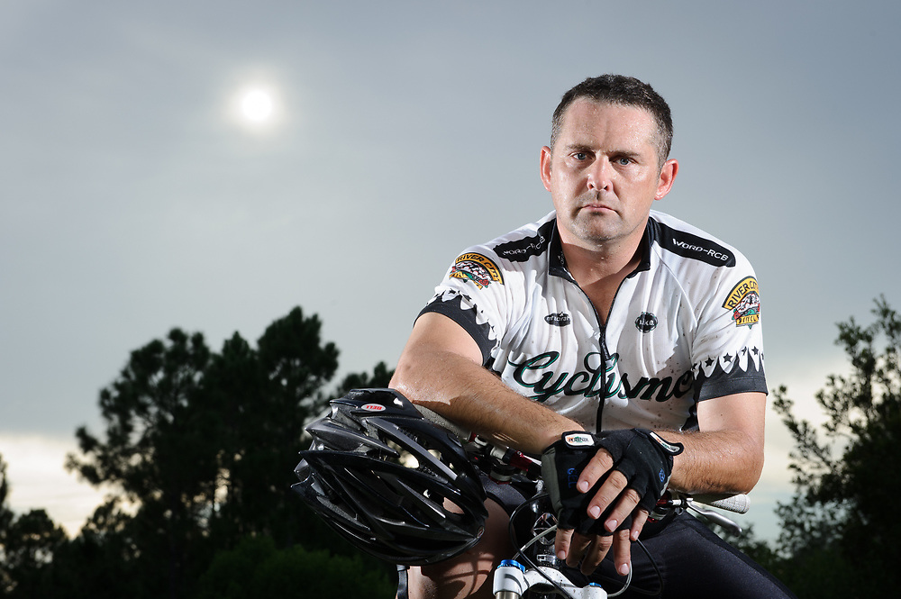 Portrait of Master Cyclist Steven Martine photographed in Florida..