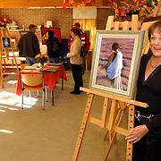 Atelierroute 2004 Huizen, schilderes Sonja Leefers