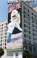 1987 Mural of Angelyne on the south side of the Hollywood Plaza Hotel on Vine St., just south of Hollywood Blvd.