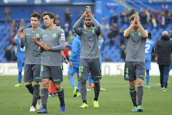 December 15, 2018 - Getafe, Madrid, Spain - Players of Real Sociedad in action during La Liga Spanish championship, , football match between Getafe and Real Sociedad, December 15, in Coliseum Alfonso Perez in Getafe, Madrid, Spain. (Credit Image: © AFP7 via ZUMA Wire)