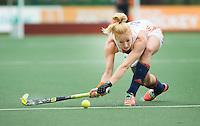 AMSTERDAM - Hockey - Margot van Geffen.   Interland tussen de vrouwen van Nederland en Groot-Brittannië, in de Rabo Super Serie 2016 .  COPYRIGHT KOEN SUYK