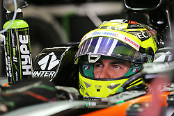 Sergio Perez (MEX) Sahara Force India F1 VJM09.<br /> 11.11.2016. Formula 1 World Championship, Rd 20, Brazilian Grand Prix, Sao Paulo, Brazil, Practice Day.<br /> Copyright: Moy / XPB Images / action press