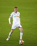 Sam Clucas of Swansea city in action. The Emirates FA Cup, 4th round replay match, Swansea city v Notts County at the Liberty Stadium in Swansea, South Wales on Tuesday 6th February 2018.<br /> pic by  Andrew Orchard, Andrew Orchard sports photography.